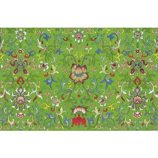 Vintage Green Wallpaper Stain-resistant Reusable Paper Placemats (Set of 6)