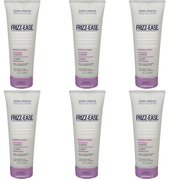 John Frieda Frizz Ease Smooth Start Repairing 10-ounce Shampoo (Pack of 6)