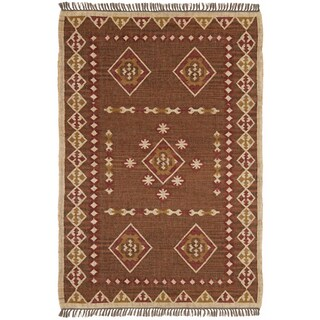 Hand Woven Bradford Jute and Wool Flat Weave Rug (8' x 10')