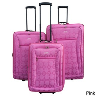 Jourdan Diamond 3-piece Expandable Upright Luggage Set