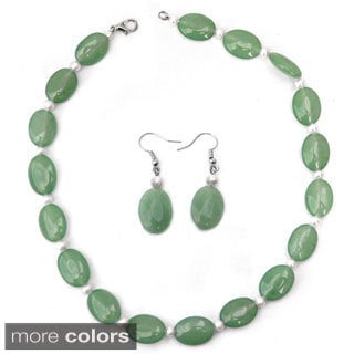 De Buman Gemstone and Freshwater Pearl Jewelry Set (5 mm)