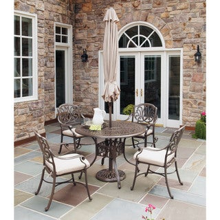 Home Styles Floral Blossom Taupe 5-piece Dining Set