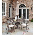 Floral Blossom Taupe 5-piece Dining Set