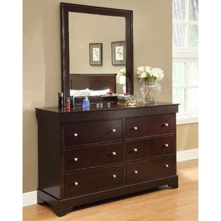 Abbyson Living 'Wilshire' 6-drawer Espresso Dresser and Mirror