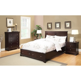 Abbyson Living Wilshire 4-piece Espresso Storage Bedroom Set