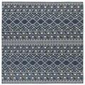 Flatweave TriBeCa Blue Wool Rug (8' Square)