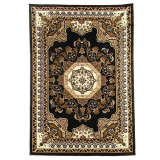 Kingdom Design 141 Black Color Area Rug (5' x 7')