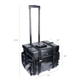 ShanySoft Black Rolling Makeup Case