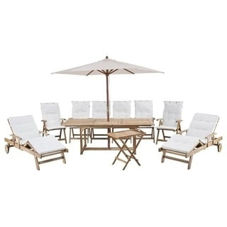 Toscana Brown/ Terra Cotta 13-piece Outdoor Dining Set