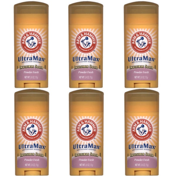 Arm & Hammer UltraMax Powder Fresh Deodorant (Pack of 6)