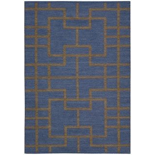 Barclay Butera by Nourison Maze Ocean Flatweave Rug (7'9 x 10'10)