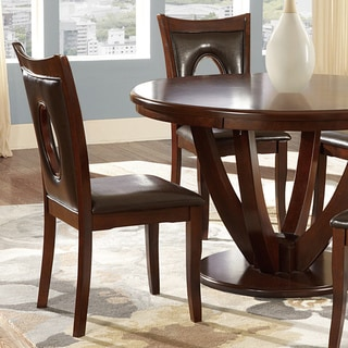 INSPIRE Q Miraval Cherry Brown Hole-back Dining Chairs (Set of 2)