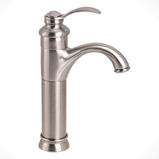 Kokols Single-hole Brushed Nickel Vessel Sink Bathroom Faucet