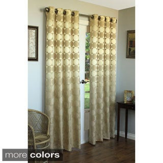 Geometric Jacquard Grommet Top 84 inch Curtain Panel