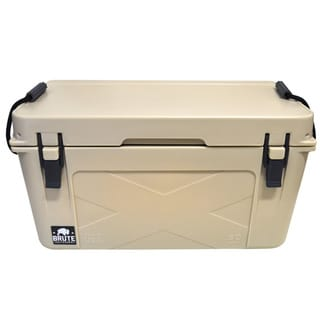 Brute Box 50-quart Tan Ice Cooler