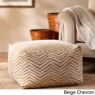 Madison Park Anaei Large Square Pouf Ottoman