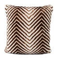 Austin Horn Classics Zambian Stripe Luxury Fur Pillow