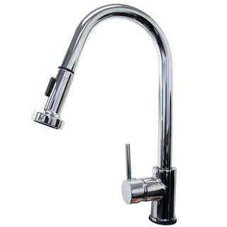 Kokols Pull-out Dual Sprayer Chrome Kitchen Faucet