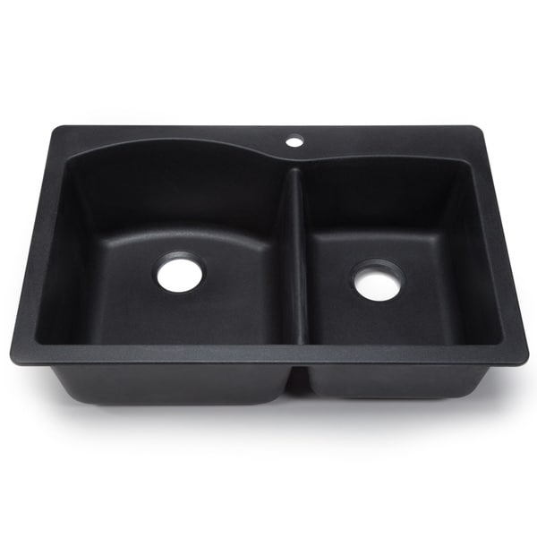 Blanco Silgranit Diamond Anthracite Dual Mount Double Bowl Kitchen ...
