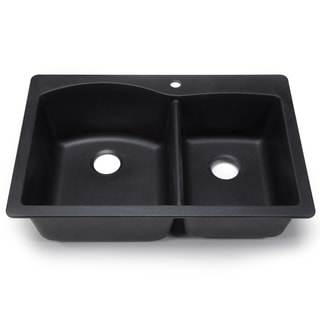 Blanco Silgranit Diamond Anthracite Dual Mount Double Bowl Kitchen Sink