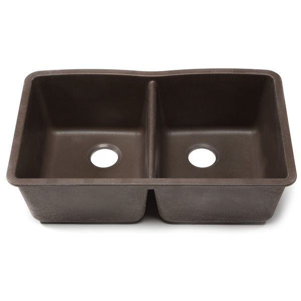 ... Kadinsky Handmade Undermount Double Bowl 32-inch Copper Kitchen Sink