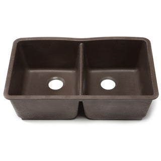 Blanco Silgranit Diamond Cafe Brown Undermount Double Bowl Kitchen Sink