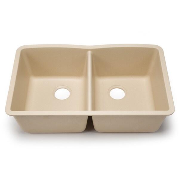 Blanco Silgranit Diamond Biscotti Equal Undermount Double Bowl Kitchen ...