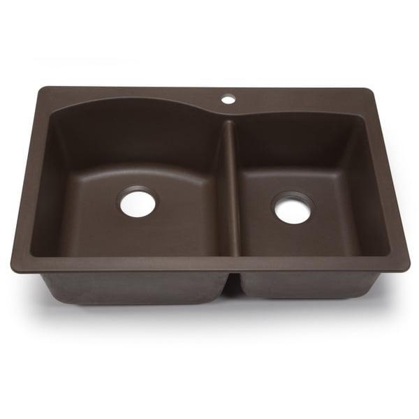 Blanco Silgranit Diamond Cafe Brown 1 3 4 Dual Mount Double Bowl Kitchen Sink 15947252