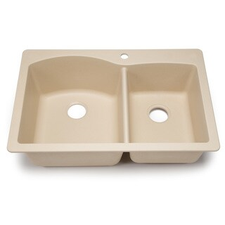 Blanco Silgranit Diamond Biscotti 1-3/4 Dual Mount Double Bowl Kitchen Sink