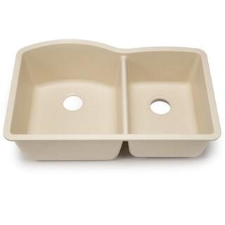 Blanco Silgranit Diamond Biscotti 1-3/4 Undermount Double Bowl Kitchen Sink