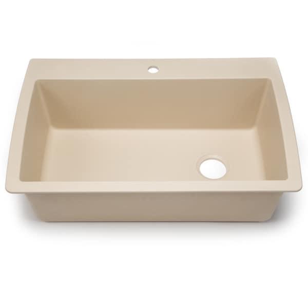 ... Silgranit Diamond Cafe Brown Dual Mount Super Single Bowl Kitchen Sink