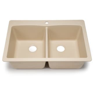 Blanco Silgranit Diamond Biscotti Dual Mount Equal Double Bowl Kitchen Sink