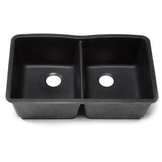 Blanco Silgranit Diamond Anthracite Undermount Equal Double Bowl Kitchen Sink