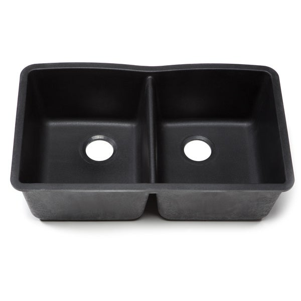 Blanco Silgranit Diamond Anthracite Undermount Equal Double Bowl Kitchen Sink