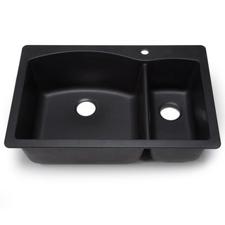 Blanco Silgranit Diamond Anthracite Dual Mount 1-1/2 Bowl Kitchen Sink
