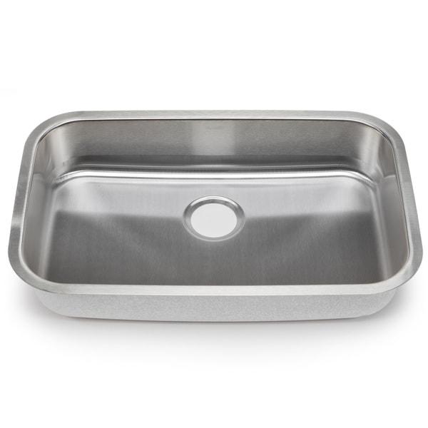 Blanco Stellar 18-gauge Steel Undermount Single ADA Bowl Kitchen Sink ...