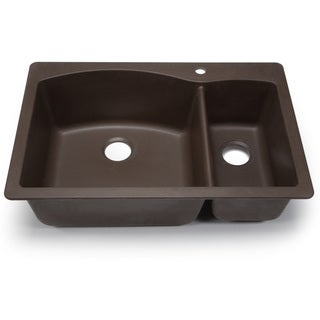 Blanco Silgranit Diamond Cafe Brown Dual Mount 1-1/2 Double Bowl Kitchen Sink