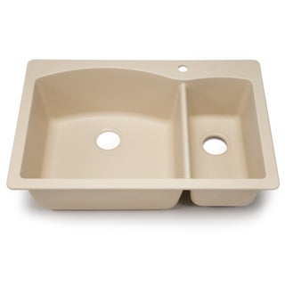Blanco Silgranit Diamond Biscotti Dual Mount 1-1/2 Double Bowl Kitchen Sink