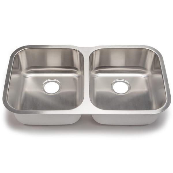 Blanco Stellar 18-gauge Steel Undermount Equal Double Bowl Kitchen Sink