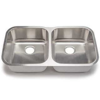 Blanco Stellar 18-gauge Steel Undermount Equal Double Bowl Kitchen Sink