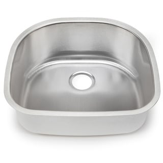 Blanco Stellar 18-gauge Steel D-shaped Single Bowl Kitchen Sink