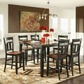 Eli Rustic Black Cherry 7-piece Extending Counter Height Dining Set