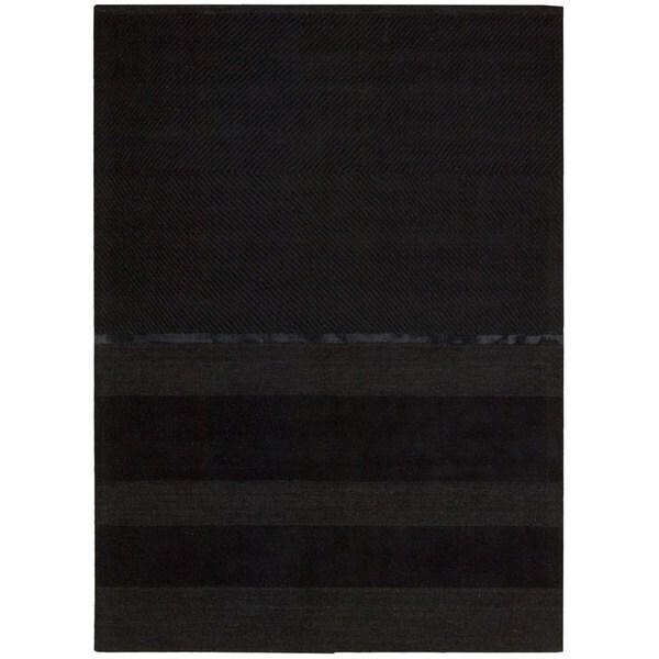Nourison Vale Onyx Black Rug (4' x 6')