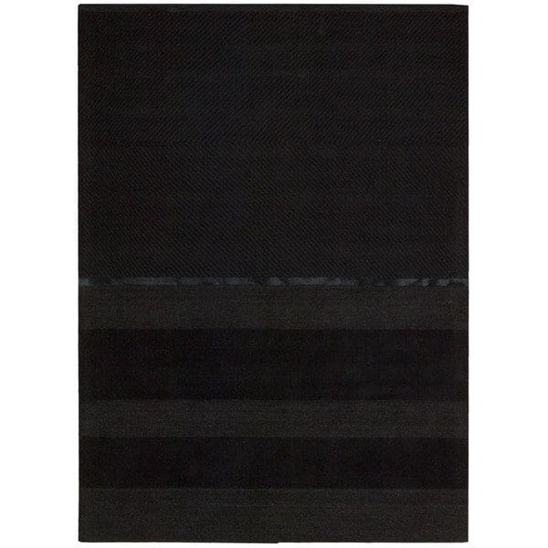 Nourison Vale Onyx Black Rug (7'9 x 10'10)