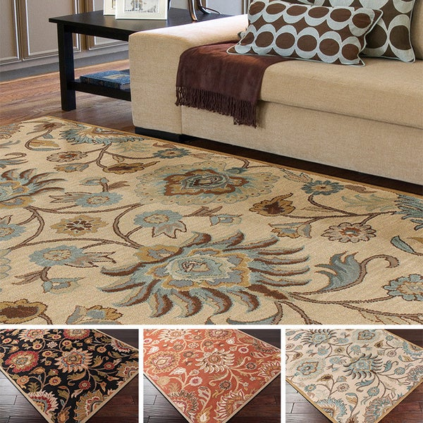 Overstock Area Rugs: Hand-tufted Alameda Traditional Floral Wool Area Rug (8' X