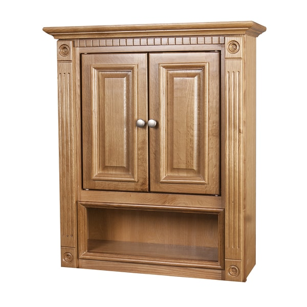 oak wall cabinet bathroom 1