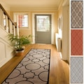 Hand-tufted Elbert Contemporary Geometric Wool Runner Rug (2'6 x 8')