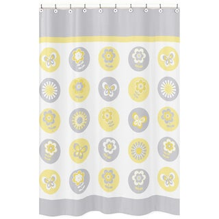 Mod Garden Fabric Shower Curtain