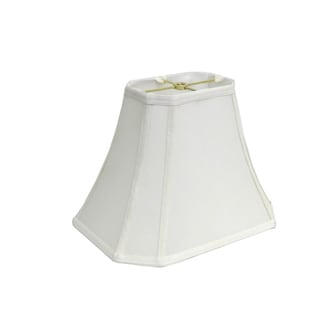 Rectangle Cut-corner White Silk Shade