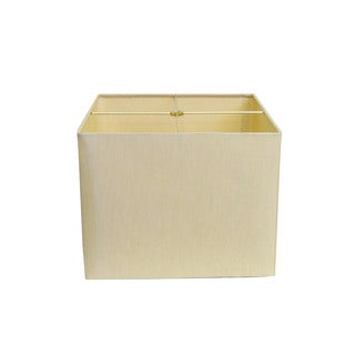 Square Beige Hard-back Lamp Shade